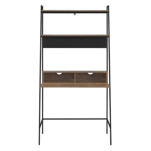 Reclaimed Barnwood 36-Inch Ladder Computer Desk