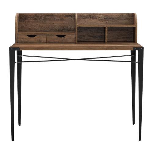Nyla Reclaimed Barnwood Desk with Hutch