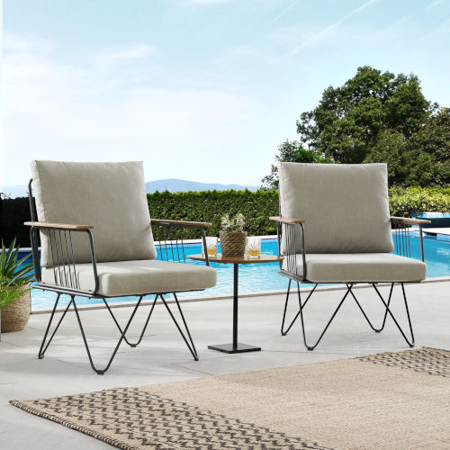 Rio Sandstone Patio Chair, Set of 2
