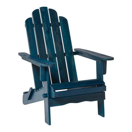 Navy Blue Wash 38-Inch Outdoor Adirondack Chair
