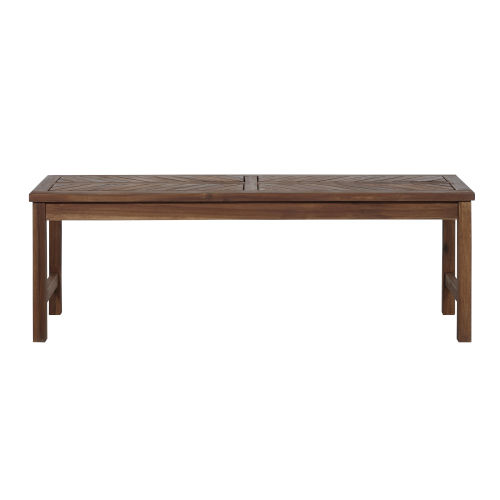 Dark Brown 53-Inch Patio Dining Bench