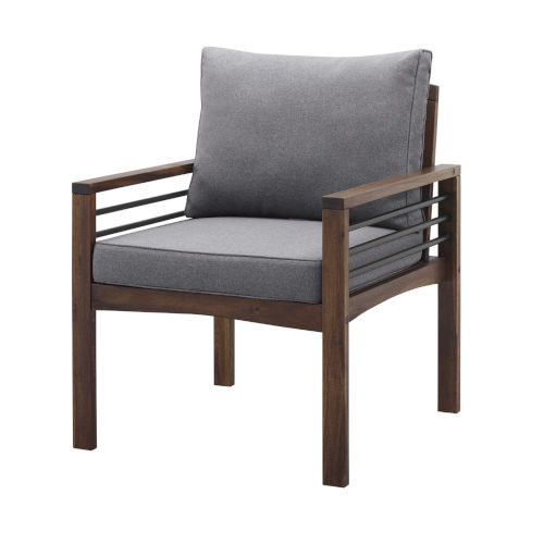 Pearson Gray and Dark Brown Outdoor Club Chair, Set of 2