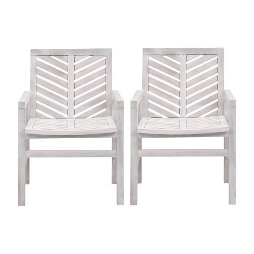 Vincent White Wash Patio Chair, Set of 2