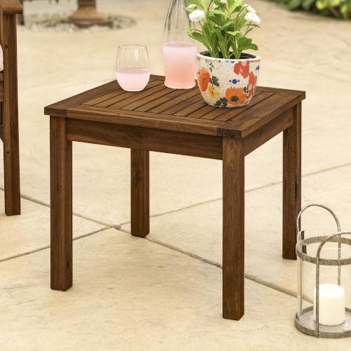 Dark Brown Patio Side Table