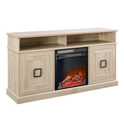 Emilene Birch Fireplace TV Stand