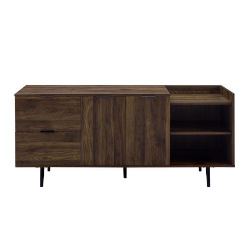 Dark Walnut 58-Inch Storage TV Stand