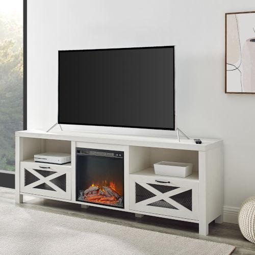 Abilene Brushed White TV Stand