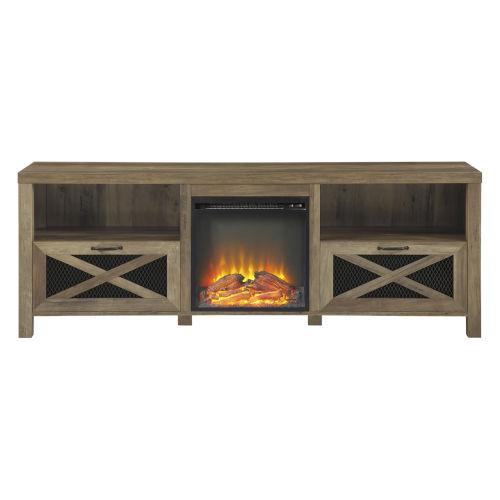Abilene Barnwood Fireplace TV Stand