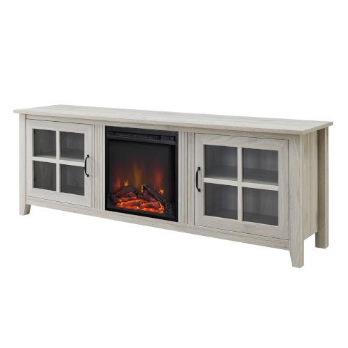 Birch Fireplace TV Console