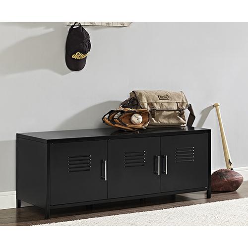 Walker Edison Furniture Co. 48-Inch Metal Locker Style Storage Bench