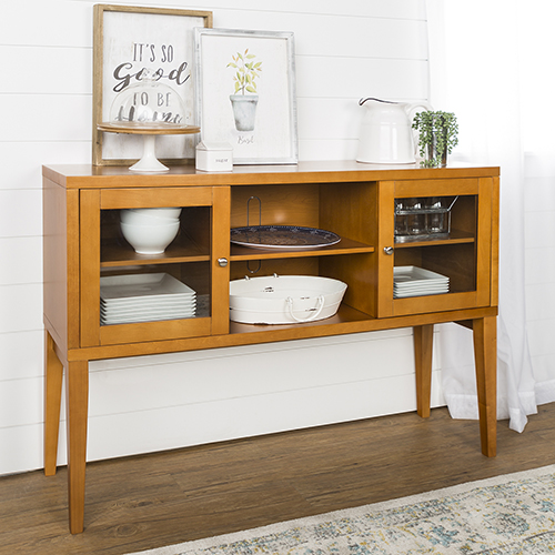 52-Inch Hepworth Wood Buffet with Tapered Legs - Acorn