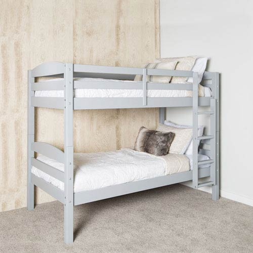 Walker Edison Furniture Co Solid Wood Bunk Bed Grey Bwstotgy Bellacor