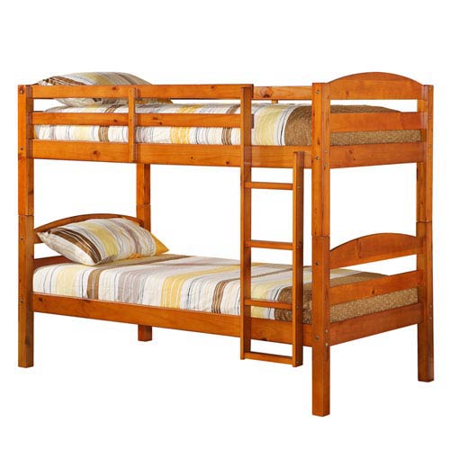 Honey Twin Solid Wood Bunk Bed