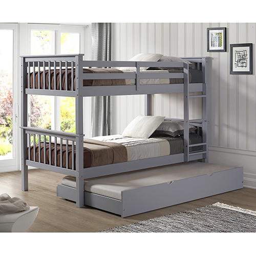Walker Edison Furniture Co Solid Wood Twin Bunk Bed With Trundle