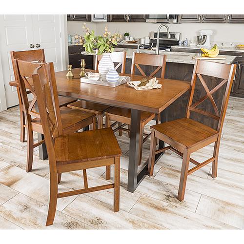 Madison 7 Piece Wood Dining Set - Antique Brown
