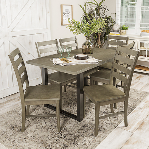 Walker Edison Furniture Co Madison Piece Wood Dining Set Aged - Aged wood dining table