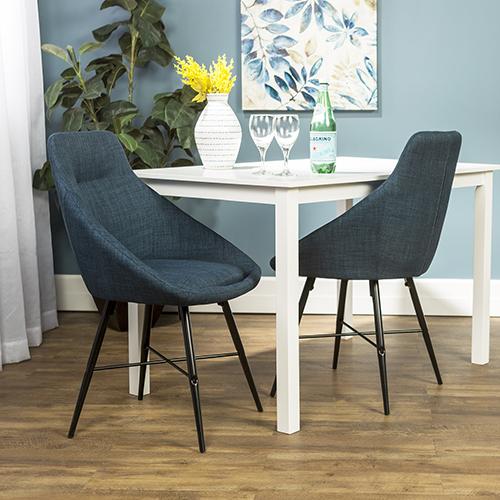 Walker Edison Furniture Co. Urban Upholstered Side Chair, Set of 2 - Blue