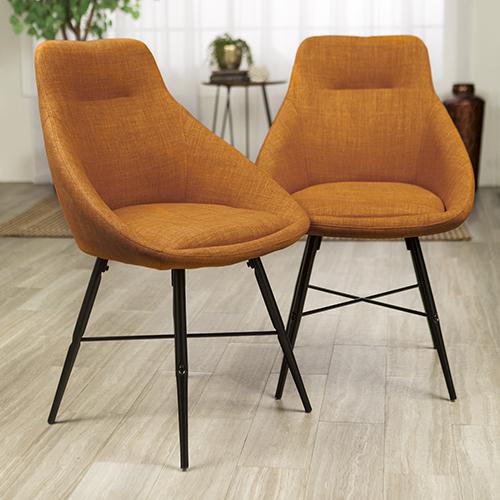 Urban Upholstered Side Chair, Set of 2 - Orange