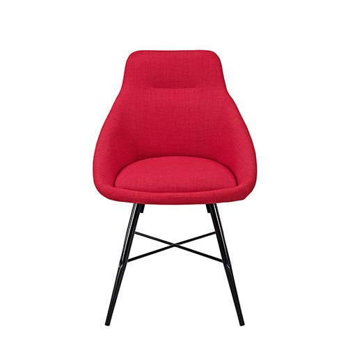 Urban Upholstered Side Chair, Set of 2 - Red