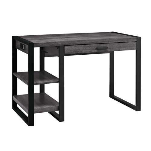 Urban Blend Charcoal 48-Inch Computer Desk