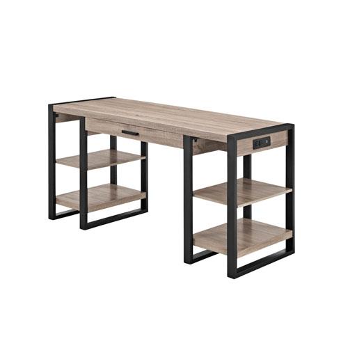 Urban Blend Grey 60-Inch Storage Desk