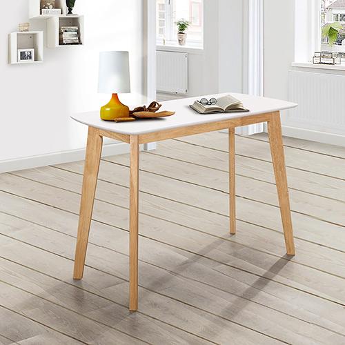 Walker Edison Furniture Co. 42-Inch Retro Modern Wood Writing Desk - White/Natural