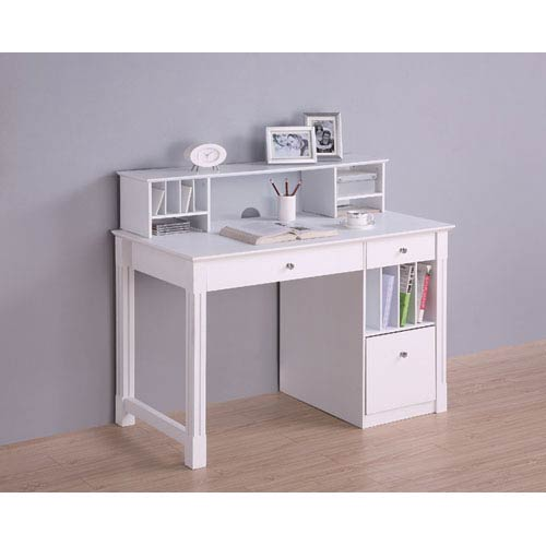 white gray solid wood office. White Deluxe Solid Wood Desk With Hutch White Gray Solid Wood Office T