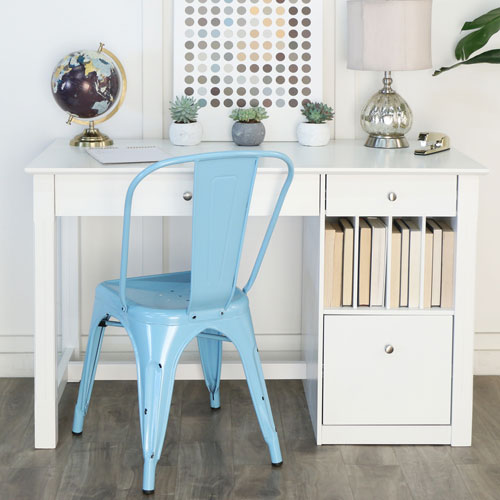 White Wood Computer Desk Small Space Desk Solutions