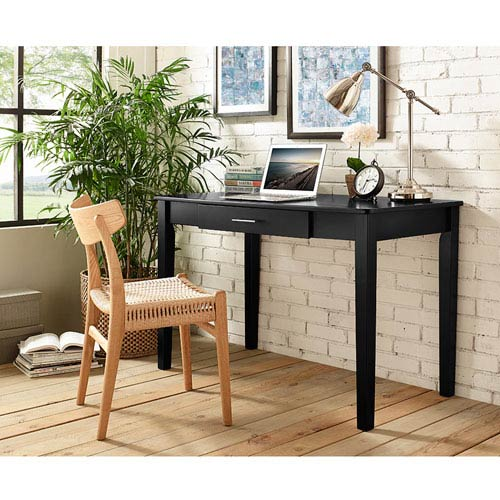 Home Office Midtown Wood Writing Desk - Black