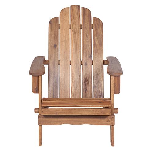 Walker Edison Furniture Co. Acacia Adirondack Chair - Brown