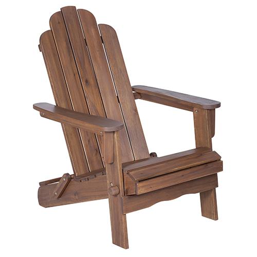 Walker Edison Furniture Co. Acacia Adirondack Chair - Dark Brown
