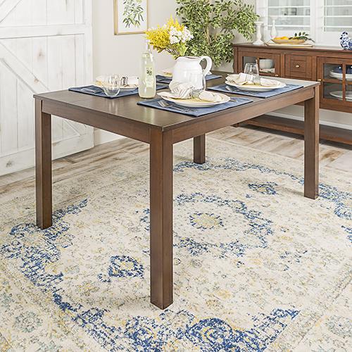60-Inch Angelo HOMEstead Wood Dining Table - Walnut