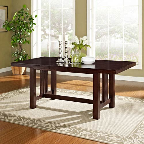 Cappuccino Wood Dining Table