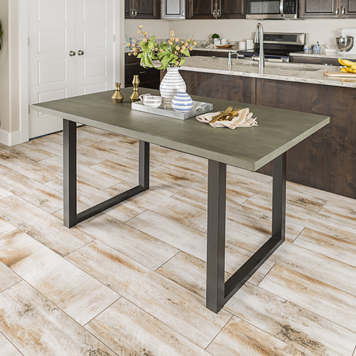 60-Inch Madison Wood Dining Table - Aged Grey