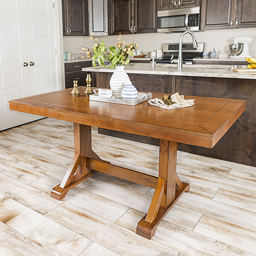 Walker Edison Furniture Co. 60-Inch Millwright Wood Dining Table - Antique Brown