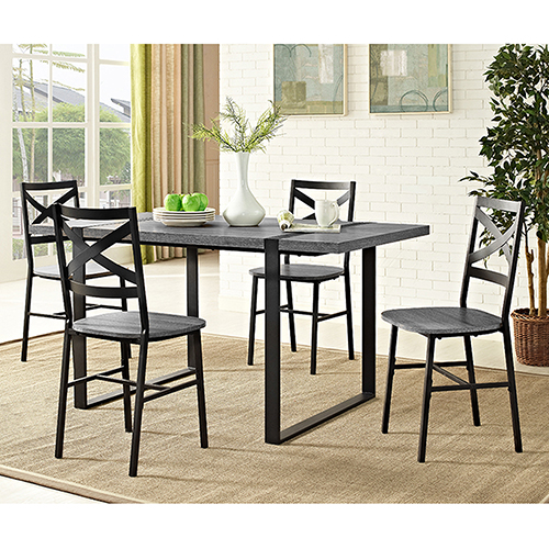 Walker Edison Furniture Co. 60-Inch Urban Blend Wood Dining Table - Charcoal