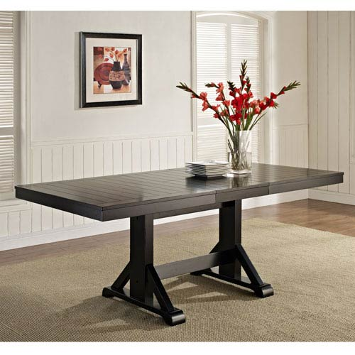 Antique Black Wood Dining Table