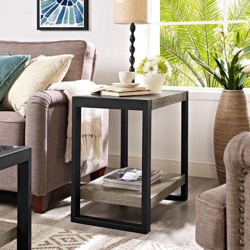 Urban Blend Grey 24-Inch Side Table
