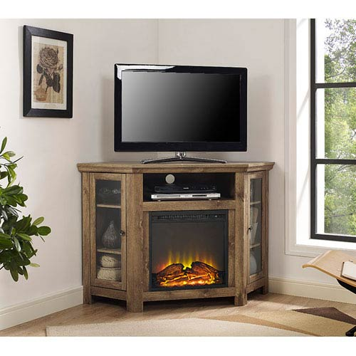 Walker Edison Furniture Co 48 Inch Corner Fireplace Tv Stand