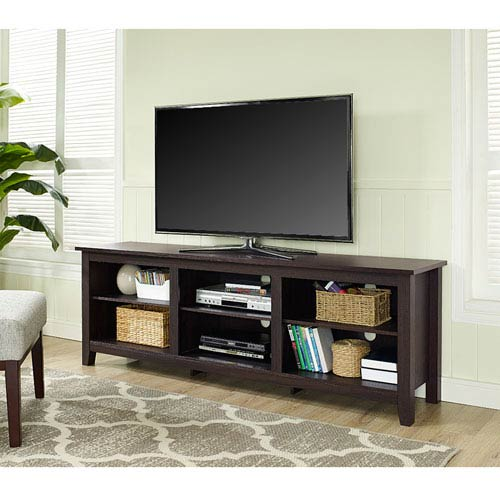 70 Inch Essentials Tv Stand Espresso
