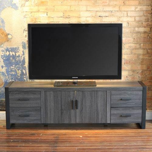 Walker Edison Furniture Co Urban Blend Charcoal 70 Inch Tv Stand