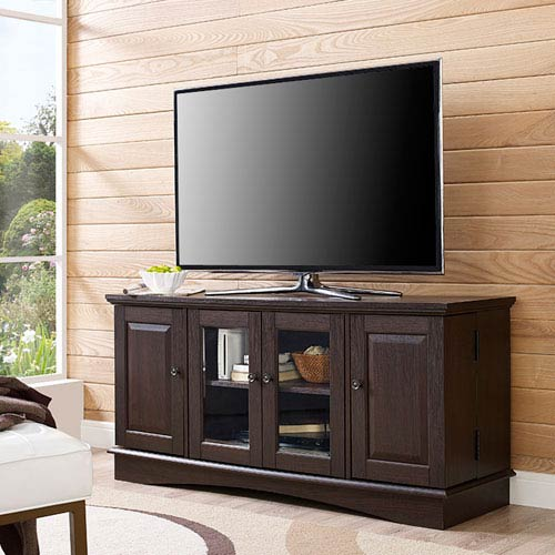 52-inch Espresso Wood Highboy TV Stand