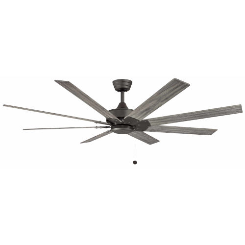 Levon Matte Greige 63-Inch Ceiling Fan with Weathered Wood Blades