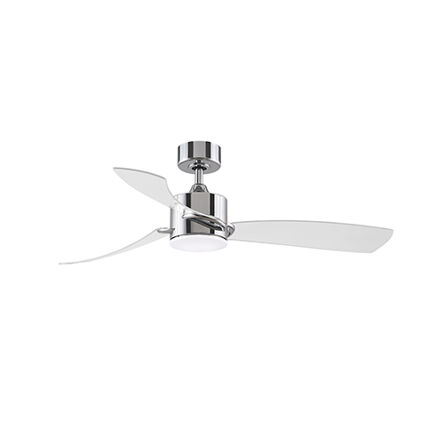 SculptAire Chrome LED Ceiling Fan