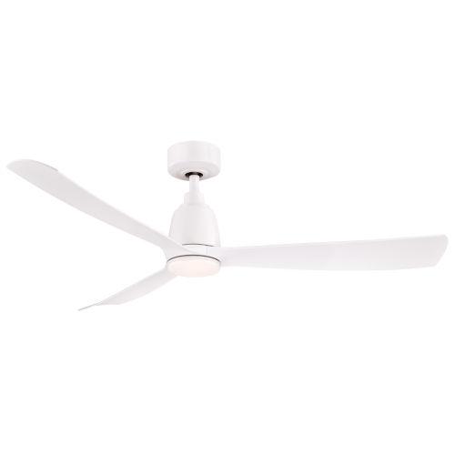 Kute Matte White 52-Inch Ceiling Fan