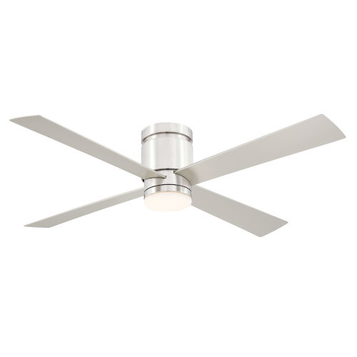 Kwartet Brushed Nickel 52-Inch LED Indoor Outdoor Ceiling Fan
