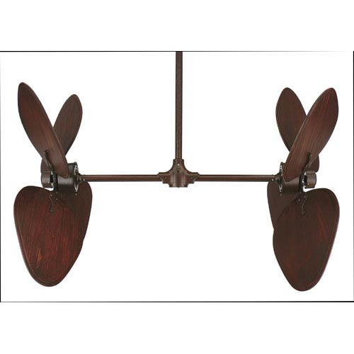 Palisade Rust Ceiling Fan with Cario Purple Blades