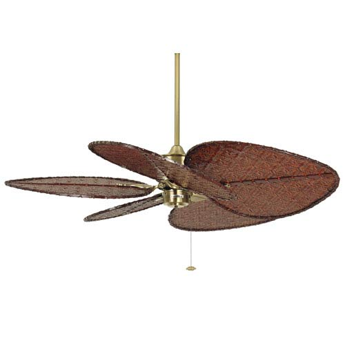 Islander Antique Brass Ceiling Fan with Antique Blades