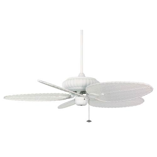 Fanimation Belleria Matte White Ceiling Fan with Matte White Blades