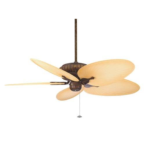 Fanimation Belleria Tortoise Shell Ceiling Fan with Natural Blades